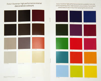 Spray Paint Colour Chart Dulux Nippon Paint Weatherbond